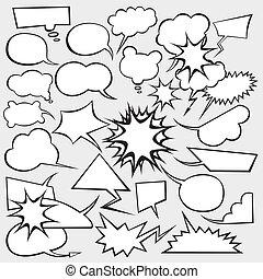 Vector Set of Comics Style Speech Bubbles - vector set of ...