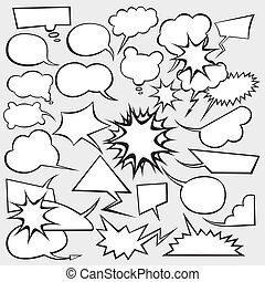 Vector Set of Comics Style Speech Bubbles - vector set of...
