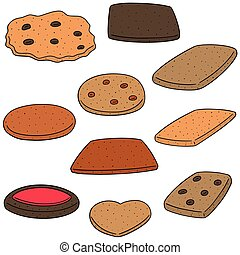 vector set of cookies and biscuits