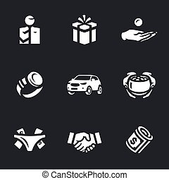 Vector Set of Corruption Icons. - Bribe taker, gift, bribe,...