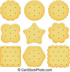 vector set of cracker chips