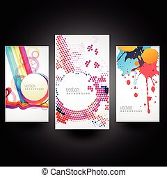 creative abstract cards