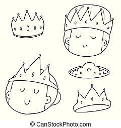 vector set of crowns