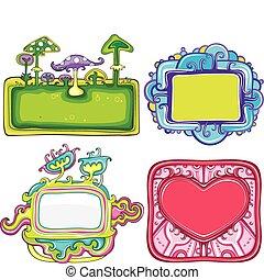 Vector set of cute frames
