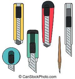 vector set of cutter