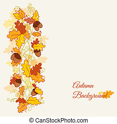 Vector set of decorative Autumn branches - for scrapbook and design in vector