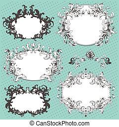 Vector set of design elements