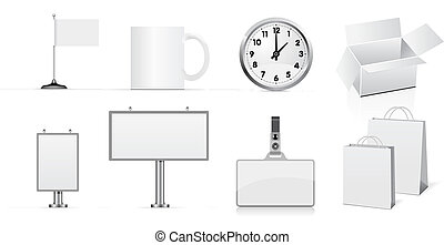 Vector set of design elements for corporate identity.