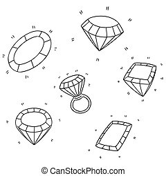 vector set of diamond