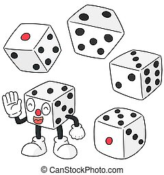 vector set of dice