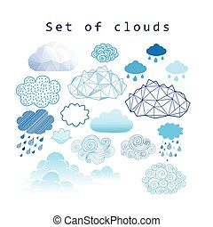 Vector set of different clouds