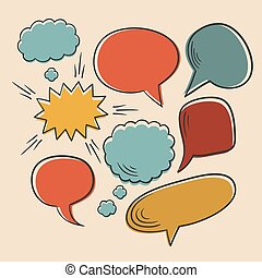 Vector set of different comic speech bubbles.