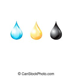 Vector set of different drops