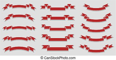vector set of different ribbons