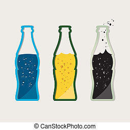 Vector set of drinks