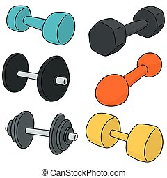 vector set of dumbbell