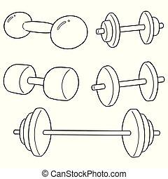 vector set of dumbbell