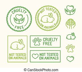 Vector set of ecology badges and stamps for packaging - not ...