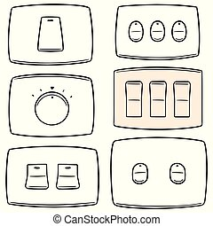 vector set of electric switch