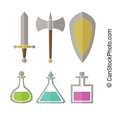 Vector set of elements for RPG game