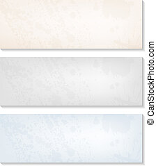Vector set of empty artistic grunge banners for Your design