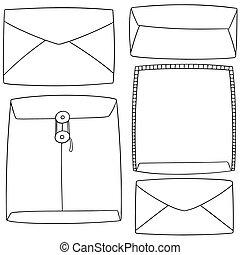 vector set of envelope