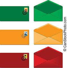 envelopes - vector set of envelopes