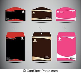 Vector set of envelopes template