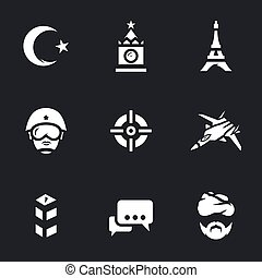 Vector Set of Europe immigration Icons.