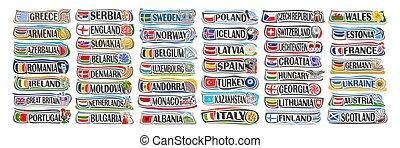 Vector set of European Countries