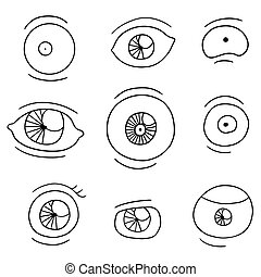 vector set of eyes