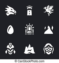 Vector Set of Fantasy story Icons.