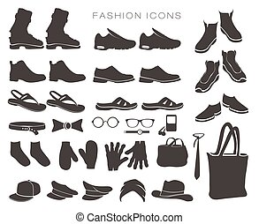 icons and items of clothing silhouettes accessories