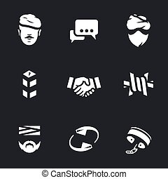 Vector Set of Fight against terrorism Icons.