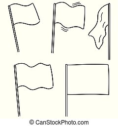 vector set of flags