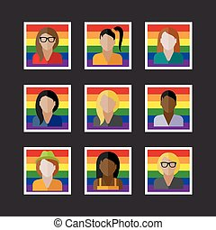 people icons with LGBT community members