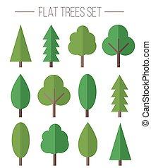 Vector set of flat trees