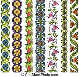 Vector set of floral elements for e