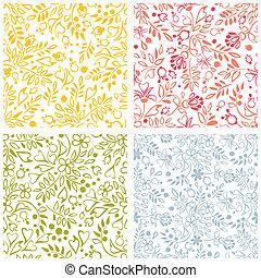 vector set of floral patterns