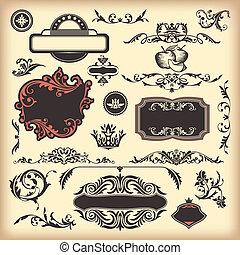 floral vintage elements