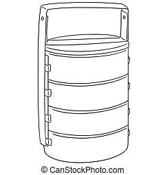 vector set of food carrier