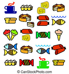 Vector set of food.