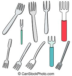 vector set of fork