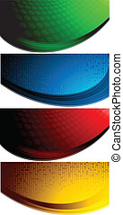 Vector set of four abstract banners