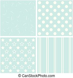 set of four different retro pattern