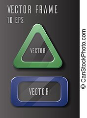 Vector set of frames with glass.