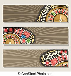 Vector set of gamble banners