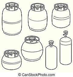 vector set of gas tank