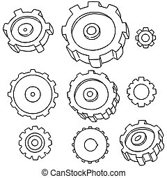 vector set of gear