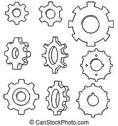 vector set of gear